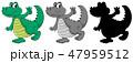 Set of crocodile character 47959512