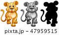 Set of lion character 47959515
