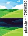 Day and night nature scene 47959520