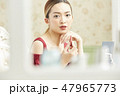 女性 メイク 化粧の写真 47965773