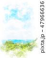 高尾山からの眺め 水彩画風 47966636