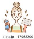 主婦 掃除 洗剤のイラスト 47968200