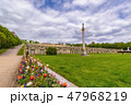 Potsdam Germany, Sanssouci Palace with flower 47968219