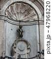 Brussels Belgium at Manneken Pis lstatue 47968220