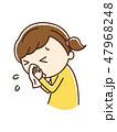 鼻をかむ 鼻水 鼻炎のイラスト 47968248