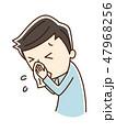 鼻をかむ 鼻水 鼻炎のイラスト 47968256