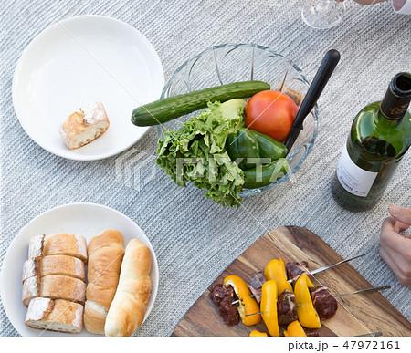 パーティテーブル 食材 BBQ 47972161