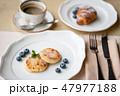 ブレックファースト 朝ごはん 朝食の写真 47977188