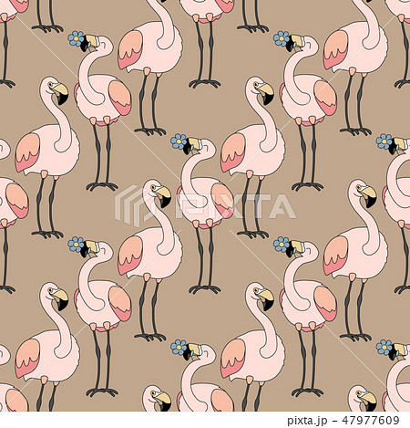 vector animals seamless pattern 47977609