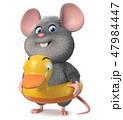 3d illustration funny mouse 47984447