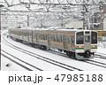 乗り物 上越線 列車の写真 47985188