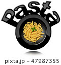 Black Symbol of Italian Pasta called Penne 47987355