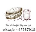 コーヒー サンド サンドイッチのイラスト 47987918
