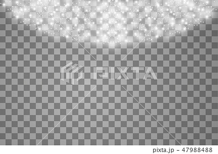 Lights on transparent background. Magic concept. Vector white glitter wave abstract illustration 47988488