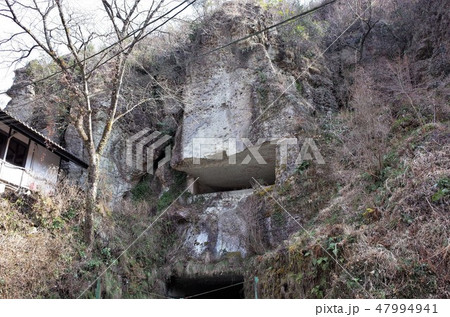 地下の採石場跡、石切り場跡、歴史的、栃木県宇都宮市、大谷資料館 47994941