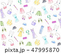 手描き水彩イラストの背景 ファッション 47995870