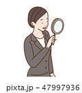 ベクター 女性 笑顔のイラスト 47997936