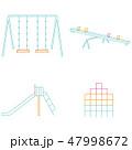 3色イラスト アイコン 公園の遊具 47998672