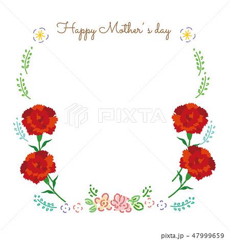 母の日 カーネーション フレーム イラスト  47999659