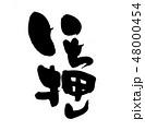 いち押し 文字 筆文字のイラスト 48000454