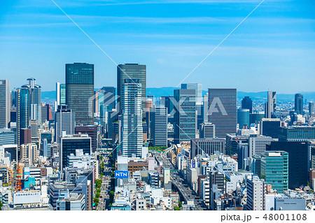 大阪の超高層ビル街 48001108