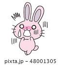 かわいい 女の子 うさぎのキャラクター 48001305