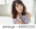 女性 ヘアスタイル 巻き髪の写真 48001333