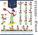 flat type school boy red jersey_cooking 48003416