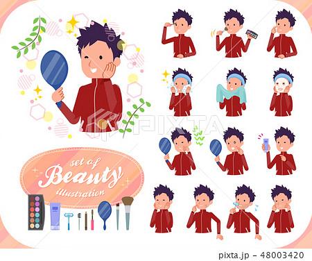 flat type school boy red jersey_beauty 48003420