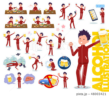 flat type school boy red jersey_alcohol 48003421