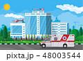 Hospital building, medical icon. 48003544