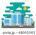 Hospital building, medical icon. 48003563