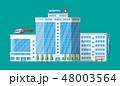 Hospital building, medical icon. 48003564