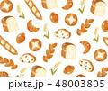 パン 背景 ベクターのイラスト 48003805
