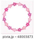 桜 フレーム 丸のイラスト 48003873