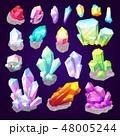 結晶 宝石 ダイヤモンドのイラスト 48005244