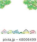 新緑 町並み イラスト ベクター 48006499