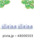 新緑 町並み イラスト ベクター 48006503