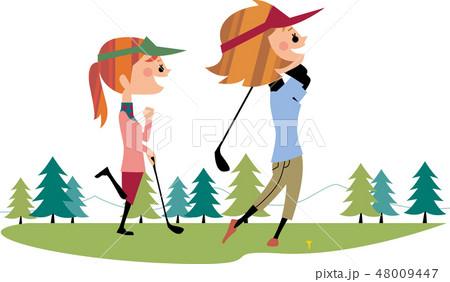 女子友達のゴルフ 48009447