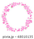 桜 春 フレームのイラスト 48010135