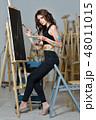 画伯 芸術家 アーティストの写真 48011015