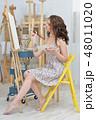 画伯 芸術家 アーティストの写真 48011020