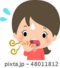 口臭に驚く若い女性 48011812