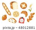 パン色々水彩風 48012881