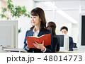 ビジネスウーマン ビジネス 手帳の写真 48014773