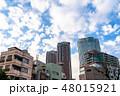 《東京都》爽やかな大空・六本木都市風景 48015921