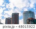 《東京都》爽やかな大空・六本木都市風景 48015922