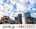 《東京都》爽やかな大空・六本木都市風景 48015923