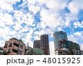 《東京都》爽やかな大空・六本木都市風景 48015925