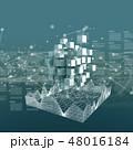 ハイテク テクノロジー サイバーのイラスト 48016184